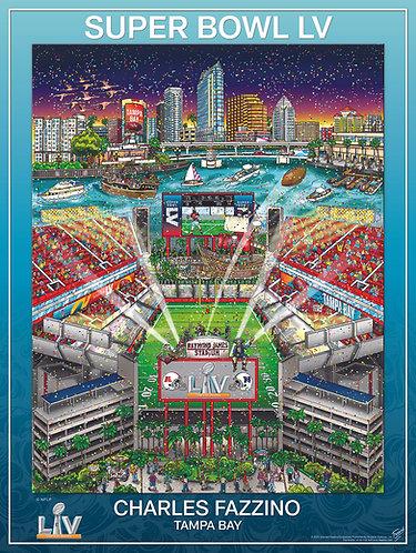 Super Bowl LV: Tampa Bay Poster Print by Charles Fazzino