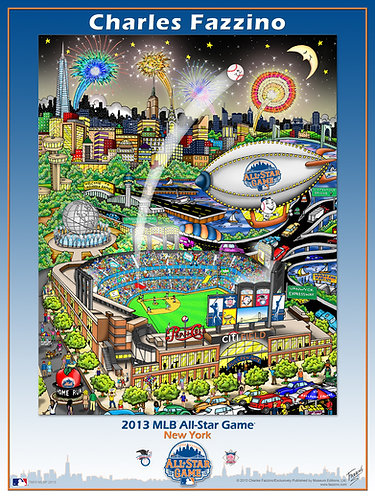 2013 All-Star Game New York Poster Print by Charles Fazzino