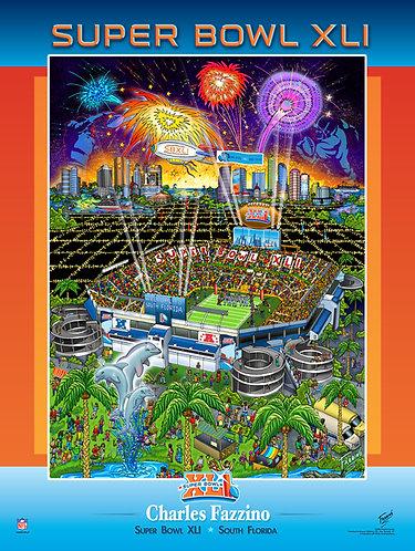 Super Bowl XLI Poster Print by Charles Fazzino