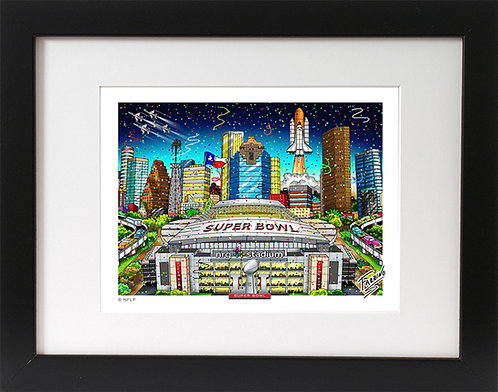 Super Bowl 51 Houston 3-D Mini Print
