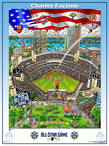 2016 All-Star Game San Diego Poster Print by Charles Fazzino