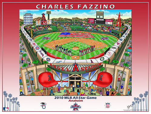 2010 All-Star Game Anaheim Poster Print by Charles Fazzino