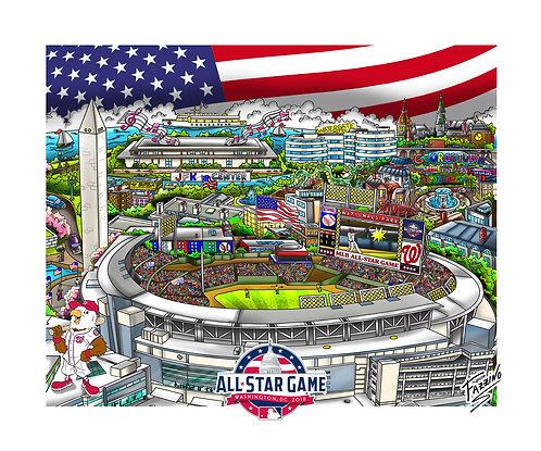 MLB All-Star Game: 2018 3-D Mini Print