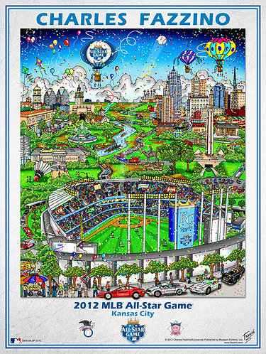 2012 All-Star Game Kansas City Poster Print by Charles Fazzino
