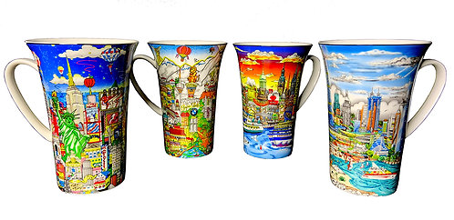 Fazzino Tall Art Mugs