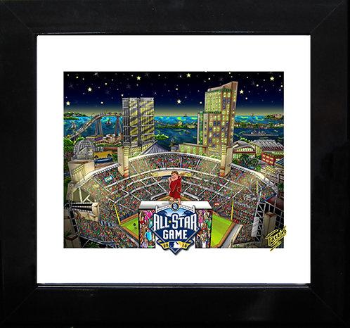 2016 All Star Game San Diego 3-D Mini Print