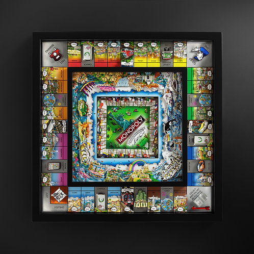 Fazzino World Monopoly Board Game: The Black Edition