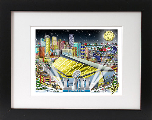 Super Bowl 52 Minneapolis 3-D Mini Print
