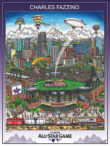 2021 All Star Game Denver Poster Print by Charles Fazzino