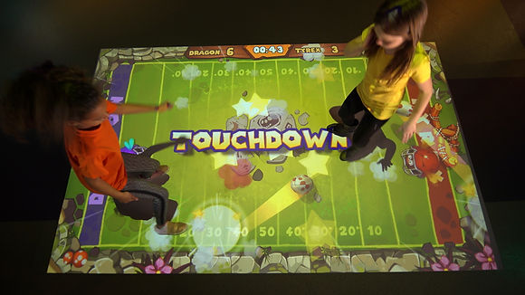 interactive projection games