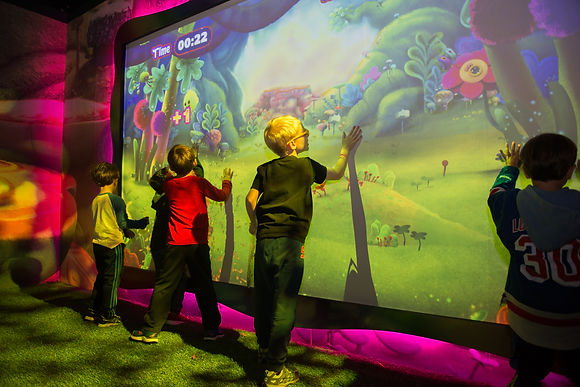 interactive wall projector game