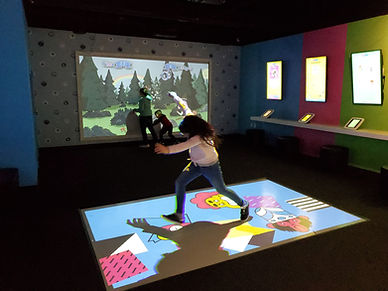 interactive floor projector games