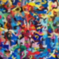 Grande samba couleur hst 120x120cms.JPG