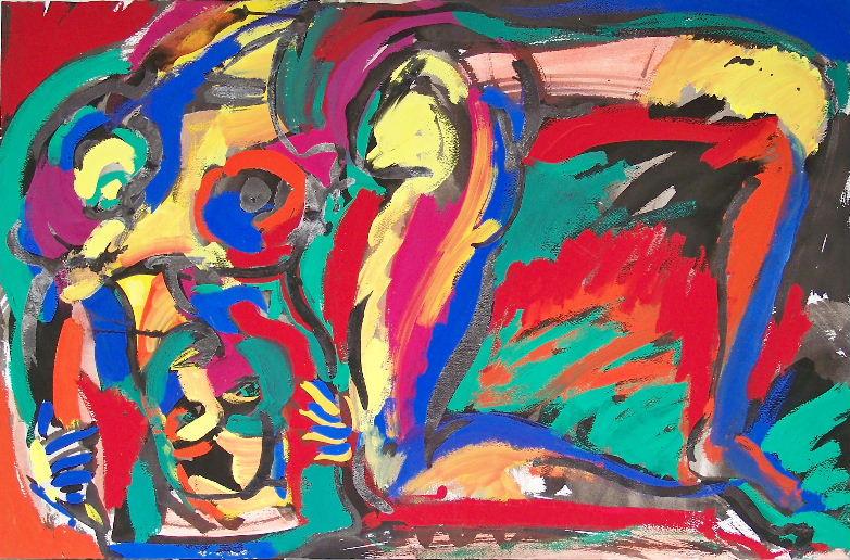 Femme pliée - 1988