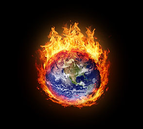 Burning globe earth (west hemisphere) -