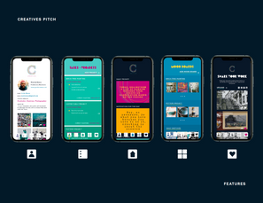 Creatives App Navigation Page Landings