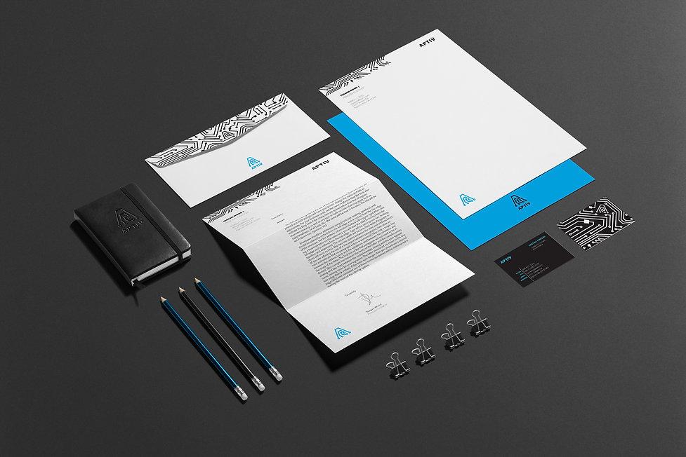 Aptiv Rebrand Stationery