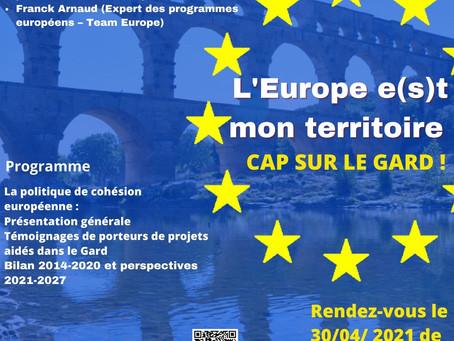 30 avril, 12h30 - Webinaire L'Europe e(s)t mon territoire, cap sur le Gard
