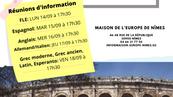 Rencontrez les Formateurs lors des Réunions d'Information la semaine du 14 Septembre