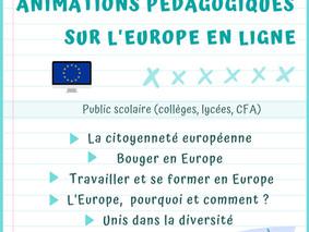 Pendant la crise sanitaire ! Animations pédagogiques sur l'Europe en ligne !