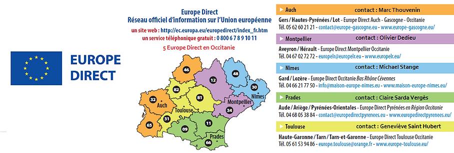 Europe Direct Occitanie 2021 2027 avec r