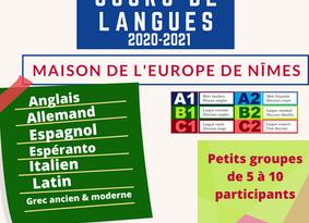 Les Cours de Langue reprennent le 21 Septembre!
