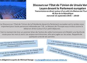 16/09 : Discours sur l'état de l'Union