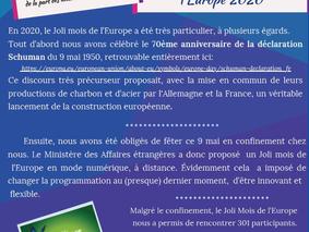 Joli Mois de l'Europe 2020... à distance