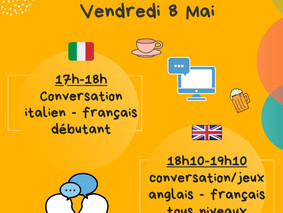 Café Linguistique Virtuel - Vendredi 8 Mai