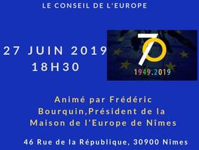 Soirées européennes le 11, 21, 27 juin à la Maison de l'Europe