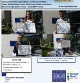 La lettre Europe Septembre 2017 est arrivée !