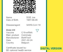 Le projet de Certificat vert numérique européen