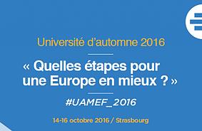 ME-F national: quelques nouvelles après l'Université d'automne des 14-15-16/10 à Strasbourg.