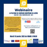 Webinaire La Politique de Cohésion Européenne en Lozère Bilan 2014 - 2020 & Perspectives 2021 - 2027