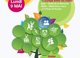 Le Lundi 9 mai : Fête de l'Europe à Nîmes « L'Europe entre vos mains »