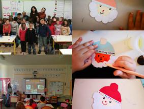 """Ateliers """"Facettes de Noël en Europe"""" dans des écoles primaires de Nîmes"""