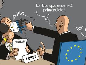 Transparence sur les contacts entre lobbyistes et institutions européennes