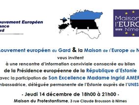 Rencontre sur la Présidence européenne de la République d'Estonie