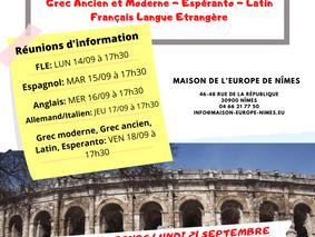 Rentrée pour les cours de langues à la Maison de l'Europe