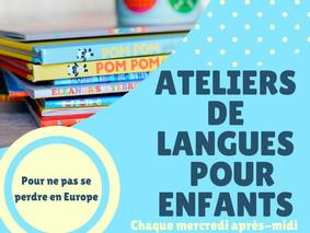 Ateliers de langues pour les enfants à la Maison de l'Europe - Juin/Juillet