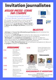 22 Juin: Atelier presse: écrire sur l'Europe, comprendre le plan d'investissement