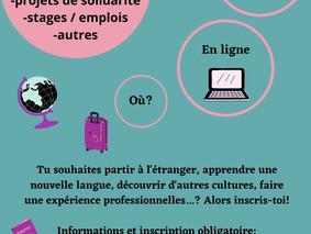 """13 avril, 18h - Réunion d'information """"Partir à l'étranger"""""""