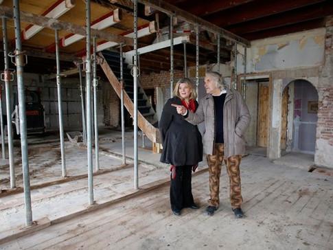 APRIL 2020 Peter en Deirdre op de bouw