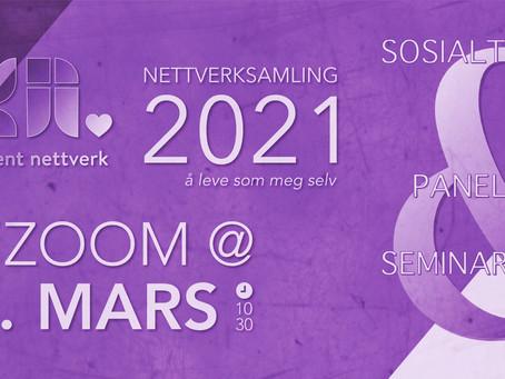 Nettverksamling lørdag 13. mars: OPPDATERING!