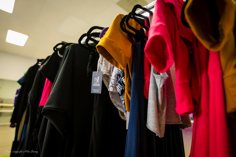 Colorful Clothing Rack of Jeanne Nuage clothing