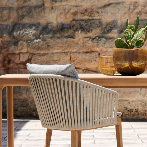 Table Illum Teck et fauteuil Mood