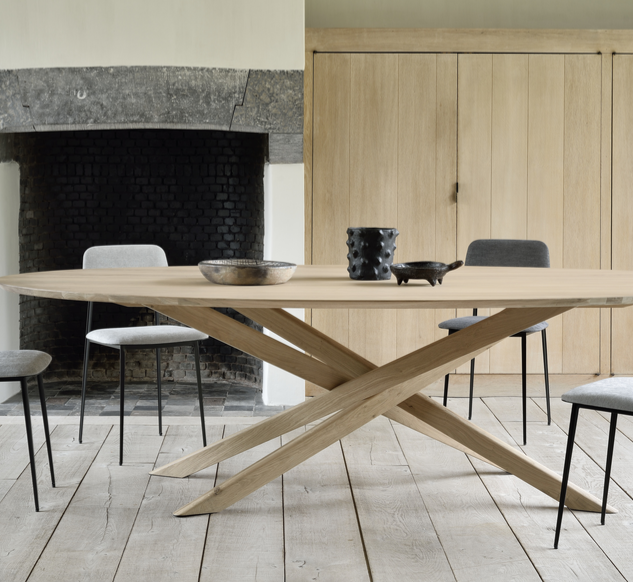 50181 Mikado oval dining table - oak & 6