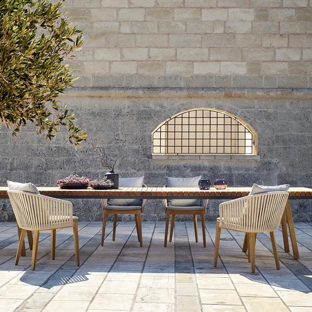 Table Vis-à-Vis et Fauteuil Mood