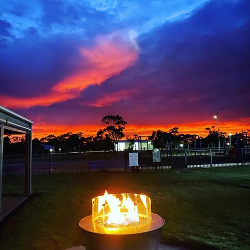 Sunset & Camp Fires