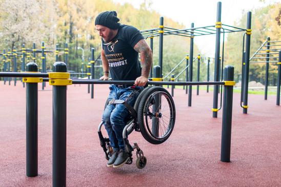 Nojapuut pyörätuolissa istuville